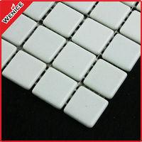 european standard cheap price glass mosaic natural color white 1''x1''