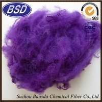good quality recycled colored fiber for blanket/mattress