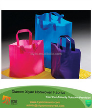 Recycled High-Densit plastic bag for shopping with Soft Loop Handles