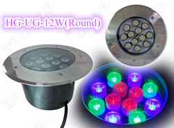 IP68 Waterproof 12W Led Inground Lights with 14 kinds of RGB Color change pattern