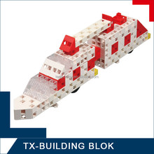 100 pcs unique bricks - train assemble toy