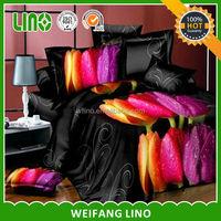 wholesale 3d printed 100% polyester commercial bed linen/elegant european bed linen