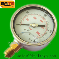 Wika hydraulic oil filled stainless steel pressure test gauges