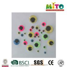 MTCDYJ-003 10mm black&colorful plastic eyes of stuffed toys