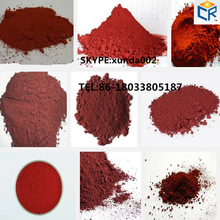factory hot sell synthetic iron oxide red 130 (ci 77491) for pavers/tiles/wood mulch/colorant dye