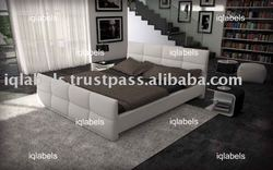 BEDROOM Bed 2011 Luxury Italian Leather PU Bed - Leather and Fabric