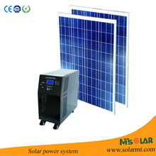 100W portable and home solar panel system CES-1240 with rechargeable fan and led lamp