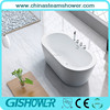 Acrylic solid surface small freestanding bathtub