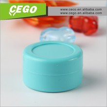 2015 High quality 7ml customized small small containers for liquid/ oil dab wax container/ silicone wax and oil container