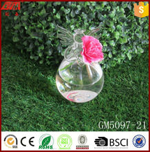 home decoration angel glass flower vase for sale