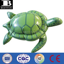 Promotional customized inflatable 18'' sea turtle plastic green small green sea turtle toy animal toy