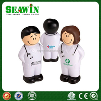 gift PU foam smiling' doctor stress relievers toy ball