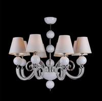 Modern Fabric Glass Chandelier Light