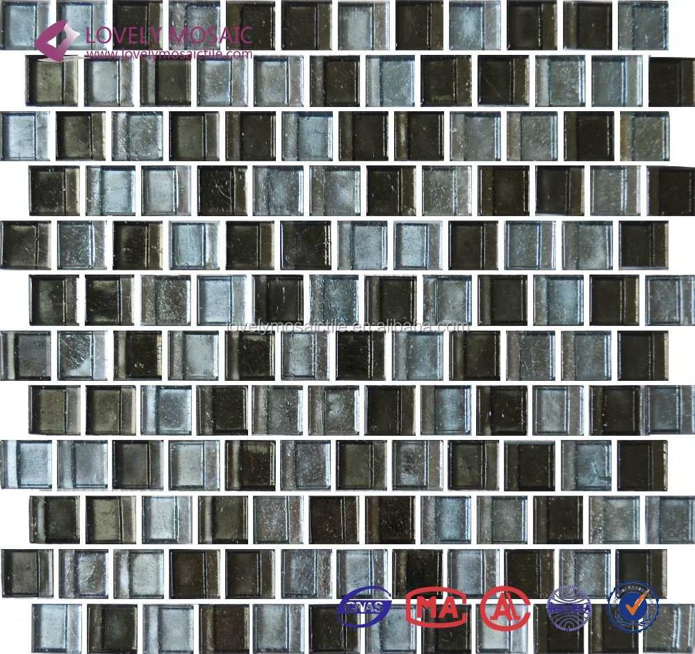 6mm thickness glass crystal mosaic tiles kitchen wall for Thickness of glass wall for exterior