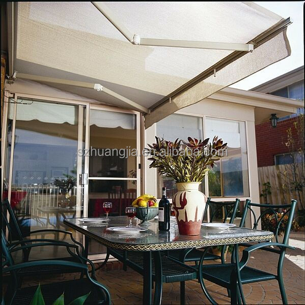 Patio Awning Cover Fabric And Aluminum Bracket/gear Box ...