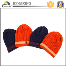 Promotional knitted jacquard 100% acrylic beanie