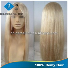 Stable Quality Cheap Wholesale Price short blonde human hair full lace wig