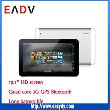 manufacturer 10 inch 3G quad core tablet android 4.4 OS as notebook, HD 1024x800 tablet