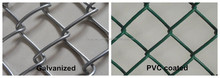 High Strength Green chain link wire fencing / security chain link fence / 9-gauge chain link fence fabric