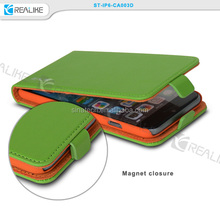 New Wallet Style Flip Stand Plastic+PU Leather Case for iPhone 6,Cell phone Leather Flip Wallet Stand Case Cover