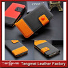 Brand New Sport Style pu Leather Black Wallet Case Cover Protector for HTC One (M7)