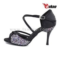 sexy high heel dancing shoes bling flake evening shoes for women