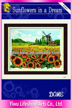 embroidery sunflower cross-stitch crafts by hand made