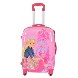 2015 Cartoon Design Clear Shell PC Luggage with Four Universal Wheels Kids Luggage
