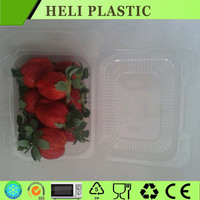 Clear Clamshell Plastic blueberry/strawberry container box with lock