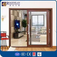 ROGENILAN 180# AS2047 certificated , fluorocarbon paint and powder coated aluminum sliding door