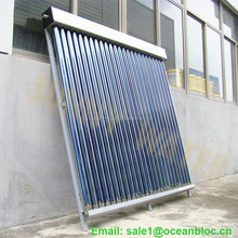 Solar thermal collector heating 250 liters water per day