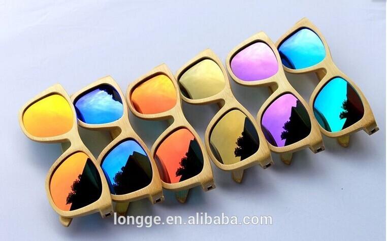 100% kacamata bambu/kayu alami bambu klasik kacamata kayu
