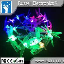 libélula modelo de cadena decorativa de hadas de navidad luces