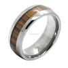 Comfort fit Titanium wood inlay Ring
