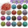 Yiwu Wholesale Nail Art Glitter Powder Charm UV Gel Acrylic AB Color Mixed Powder & Sequin