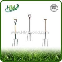 Garden steel rake head pitchfork