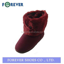 High quality warm winter snow boots,flat snow boot 2015