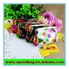 Souvenir retro bag metal frame and clutch bag PVC coin purse