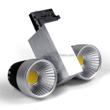 2x10w CE / ROHS / FCC epistar cob led commercial tracklight Asian standard 2wires 1phase