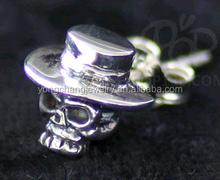 skull Stainless Steel skeleton Men's Stud Earrings ear post for body piercing