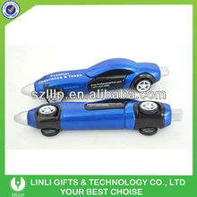 plastic promotional car pen with moving
