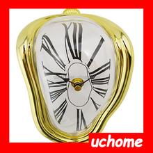 UCHOME Roman Numeral Novelty Distorted Retro Timepiece Melting Quartz Irregular Clock