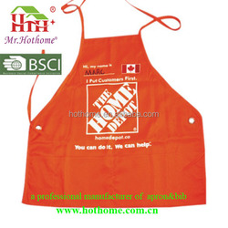 Painting Reverse Folded Red Aprons With One Big Pocket