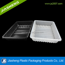 dongguan PP vacuum forming rectangular plastic foam biodegradable meat packaging tray with high quality