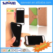 desk phone holder case card holder wallet with great price for iPhone 6 4.7 inch