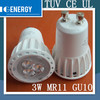 TUV CE UL Government order 3w mr11 dimmable high power ce rohs gu10 led spotlight