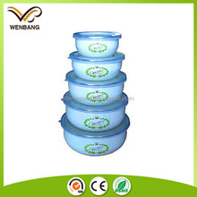 white kitchen ware pp lid hot sales enamel for utensil