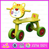 2015 Promotional Kids wooden walking toy,Funny children ride on tricycle toy,Lovely Cat deisgn baby wooden tricycle toy W16A001