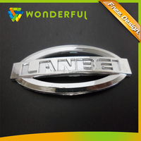 Custom Made Truck Grille Emblem Type High Quality And Hard Plastic Mirror Chrome Finished Auto Replacement Car Emblem