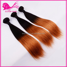 hot sale ombre virgin brazilian weave hair straight curly hair buy cheap brazilian human hair online